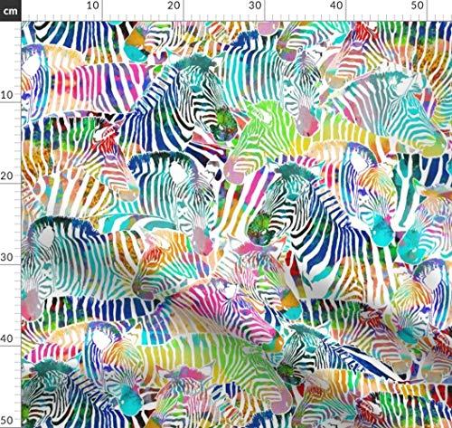 ogen, Afrika, Zoo, Animal Print, Tier Stoffe - Individuell Bedruckt von Spoonflower - Design von Rubydoor Gedruckt auf Synthetik Jersey ()
