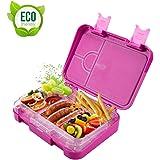 Gindoly Kinder Lunchbox Bento Box Brotdose Auslaufsicher Snack-Box mit variablen Fächern und herausnehmbare Innenschale…