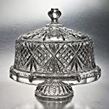 #8: Godinger Dublin Crystal Cake Plate with Dome Cover