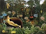 1art1 52009 Henri Rousseau - Der Traum, 1910 Poster Kunstdruck 80 x 60 cm