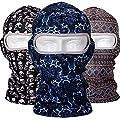 ADAALEN Lycra Balaclava Wasserdichte Sonnenschutz Vollmaske Blume gedruckt UV Schutz Ski Mask