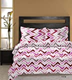 Bombay Dyeing Cardinal 140 TC Cotton Double Bedsheet With 2 Pillow Covers