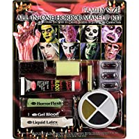 Family Size Horror Halloween Fancy Dress Make Up Kit Accessory All In One