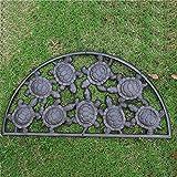SLH Europäische Land Retro Gusseisen Halbkreis Schildkröte Fuß Pad Tür Matte Villa Hof Vorne Dekoration Ornamente