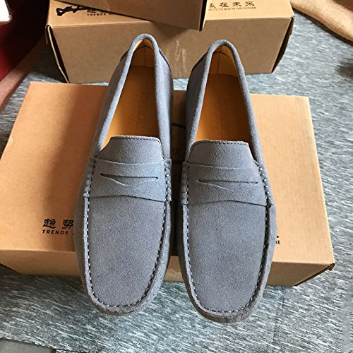 piselli, scarpe, smerigliato metri, alla moda dei piselli scarpe respirabile a suo agio, guidando pigro scarpe gray