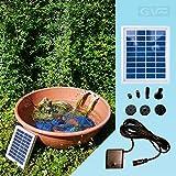 Pompa solare per il laghetto–energia solare da giardino Gioia Pro–Pompa per laghetto con alta qualità Pannello solare nel telaio in alluminio