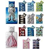 2-tlg. Kinder-Bettwäsche 135 x 200 cm | Baumwolle Renforcé 4-Jahreszeiten | CelinaTex 5000391 | rosa pink grün Prinzessin -