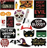 #5: Grapits Halloween Photo Booth Props Party Mask (Multicolor, Pack of 22)