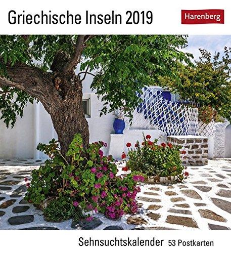 Griechische Inseln - Kalender 2019: Sehnsuchtskalender, 53 Postkarten