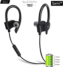 Sami Bluetooth 4.1 in-Ear Noise Isolating Sport Headphones with Mic and Controller (Black)