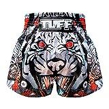 Tuff de Boxe Muay Thai Short Tiger, Mixte, Gray Tiger, X-Large