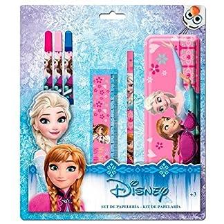 Set papeleria Frozen Disney estuche metalico