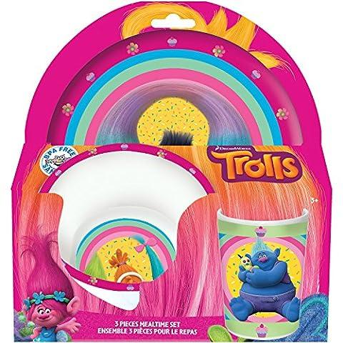 Trolls 3 Piece Dinnerware Set