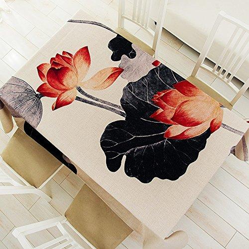 Tissu de table de loterie Tissu de table de personnalité Tissu de lin Toile de table en lin au rectangle ( taille : 100*145CM )