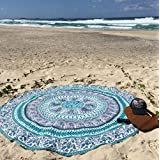Toallas de playa, Sannysis Indian Mandala Roundie Beach Throw Tapestry Hippy Boho Gypsy, Cotton (A)
