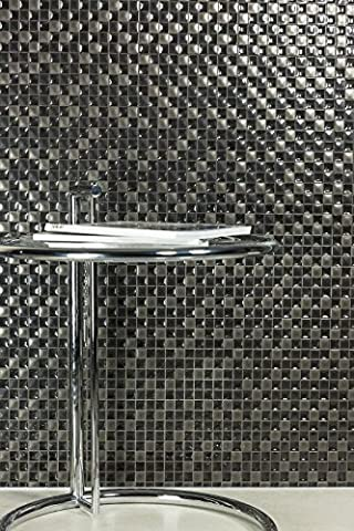 Black and Light Grey Ceramic Gloss Wall Tiles Bathroom Kitchen Utility Rooms - 25 cm x 40 cm