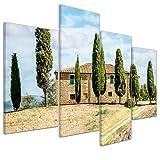 Bilderdepot24 Leinwandbild Toskana - Italien - 120x80 cm 4 teilig - fertig gerahmt, direkt vom Hersteller