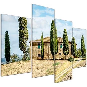 Bilderdepot24 Leinwandbild Toskana - Italien - 120x80 cm 4
