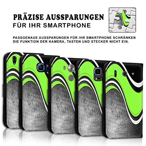 Wallet Book Style Flip Handy Tasche Case Schutz Hülle Schale Motiv Etui für Apple iPhone 5 / 5S - Variante UMV1 Design12 Design 10