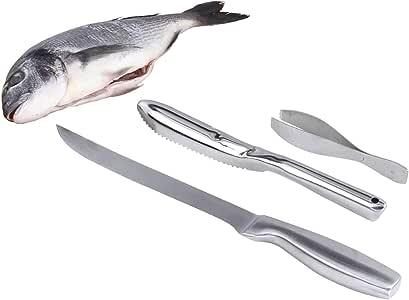 Fischentschupper Fischmesser Fischschupper Schaber Küchenzubehör Angelzubehör