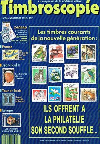 Timbroscopie N°96 nov 1992: Les timbres courants