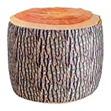 """Hocker """"Baumstamm"""" mit innenliegendem Luftkissen und weichem, waschbaren Bezug, inkl. Luftpumpe, """"optische Täuschung"""" auch als schöne Herbstdeko geeignet"""