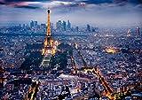 Poster Parigi Da Notte Notte Tour Eiffel