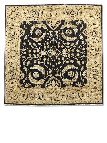 Pak Persian Rugs Handgeknüpfter Mahal Teppich, Schwarz, Wolle, 274 X 267 cm (Schwarz Mahal Teppich)