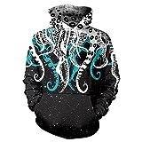 DioKlen - Hip-Hop Hoodies Sweatshirts Galaxy Space 3D Printing Kawaii Octopus Pattern Herbst Kapuze Frauen Hoodie BTS [B101 104 M]