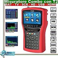 MISURATORE DI CAMPO PROFESSIONALE MCK COMBO SPECTRUM HD DVB-S2
