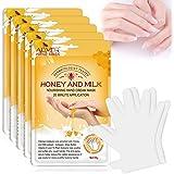 5 Paires Gants Hydratants pour les Mains, Mains Masque avec Collagène Infusé pour les Mains Sèches, Vieillissantes et Craquel