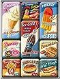 Nostalgic-Art 83069 USA - American Diner | Retro Magnet-Set (9teilig) | Kühlschrank-Magnete | Vintage
