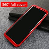 #4: Samsung Galaxy S8 -Full Protection 360 Degree Full Body Front+Back Cover Case [ Red ] -- BeatsBox