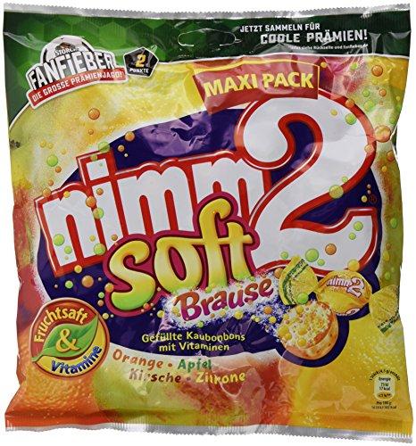 nimm2 soft Brause – Ploppende Bonbons mit aufregender Brause-Füllung als Naschspaß für dieganze Familie – (6 x 345g Beutel)