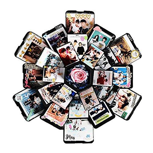 Molre-yan scatola di regalo di esplosione a 6 lati a 5 strati di esagono scatola di regalo innovativa scatola di album di foto fai da te