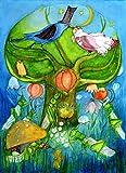 Poster fürs Kinderzimmer von Eva Maria Ott-Heidmann - VOGELHOCHZEIT vom