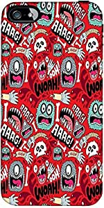 Snoogg woah aaah Hard Back Case Cover Shield ForApple Iphone 5 / 5s