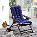 #8: AMZ Premium Microfibre Soft Home Cotton Cushion Long Chair Pad Cushion for Indoor/Outdoor Home Garden Decor (Royal Blue,48 x 18 Inches,Set of 1)
