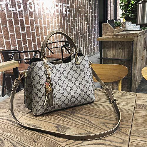 YZJLQML Damen Tasche Damen clothingjoker Mode Druck Handtasche Schulter diagonal Paket, gd Gold