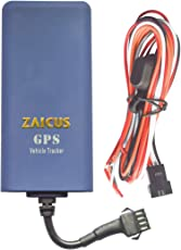 ZAICUS ZPR-01 Real TIME GPS Tracker 4 Wire with Relay Real TIME Tracking, Ignition ON/Off Alarm, Engine ON/Off with 1 Year Free Tracking Software APP.