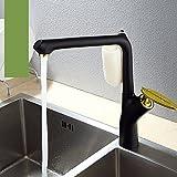 SDKIR-plat chaud et froid du robinet, robinet de cuisine de haute qualité,l'or noir c-6002-3 zirconium