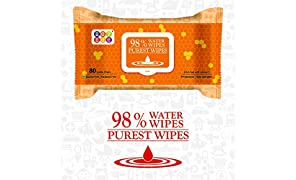 Bey Bee Hypoallergenic Baby Water Wipes for New Born Babies with Fliptop Lid, 80 Wipes (Pack of 3)
