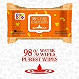 The Bey Bee's 98 percent water wipes are enriched with aloe vera extracts which keep your baby's skin from drying up after a rigorous cleaning session. The wipes are soft and gentle, but also very effective. These are made of a spun lace, non-woven f...