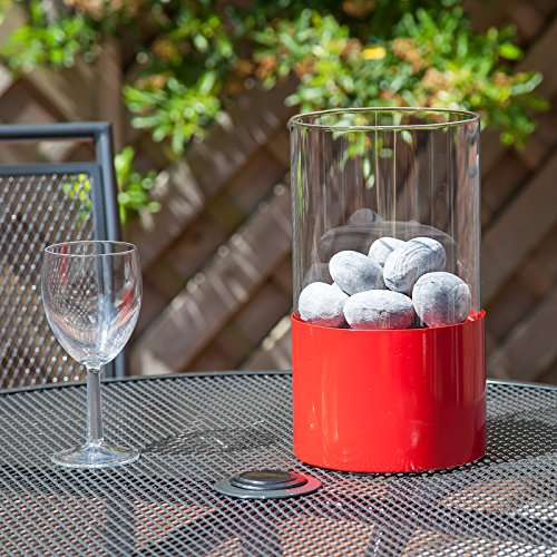 Clarkson Table Top Bio-Ethanol Fireplace - Red