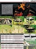 Köhko Feuerschale Ø 79 cm - Beine Anti-Rost l...Vergleich
