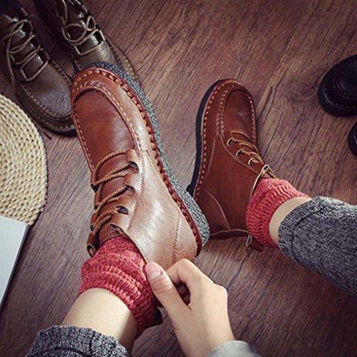 Heart&M Novit¨¤ per l'autunno/inverno signore vintage pizzo breve stivali suole morbide e faccia piatta casual scarpe da donna c