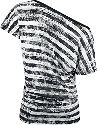 R.E.D. by EMP Striped Ladies Shirt T-shirt Femme noir/blanc noir/blanc