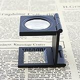 Andoer 10X 28 mm Mini aleación de Zinc lupa plegable regla grabada en la hoja para herramientas de tela plegable lupa cristal óptico