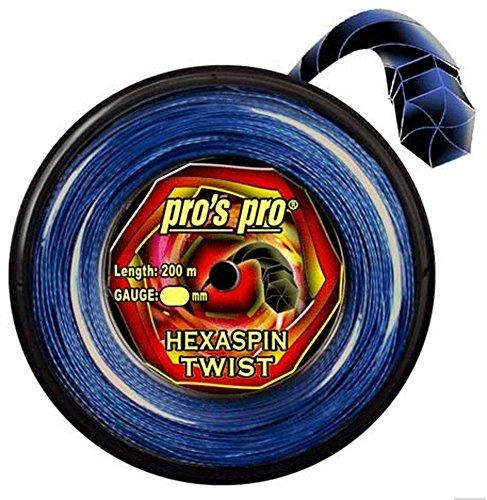Tenis Cordaje Hexaspin Twist 1,25mm de 200m azul