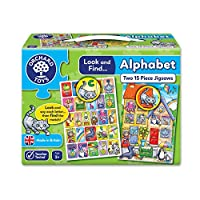 Orchard Toys Look and Find Alphabet Jigsaw Puzzle - 2 jigsaws in a box